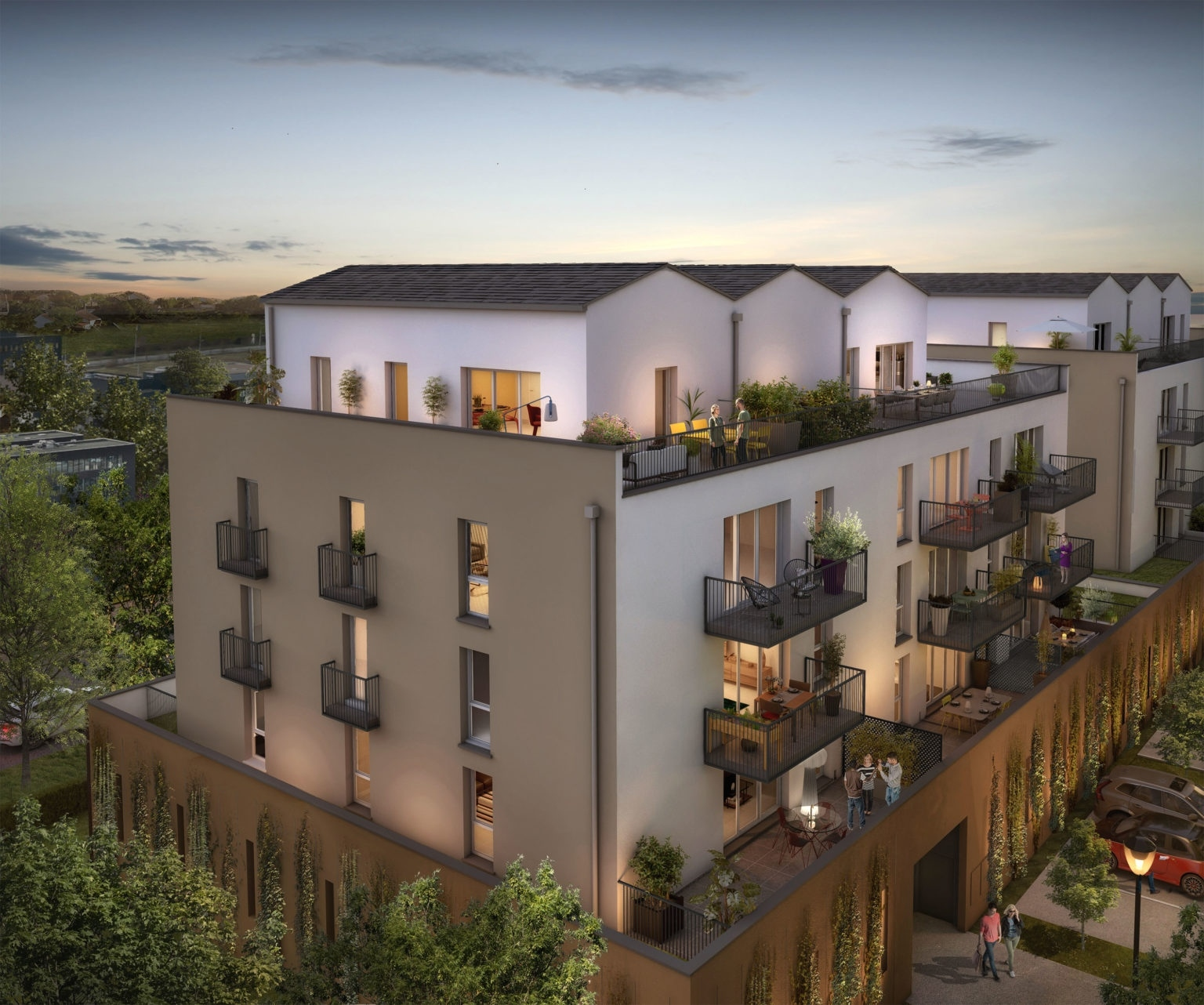 Villa et terrasse du parc collectif_VF_BD